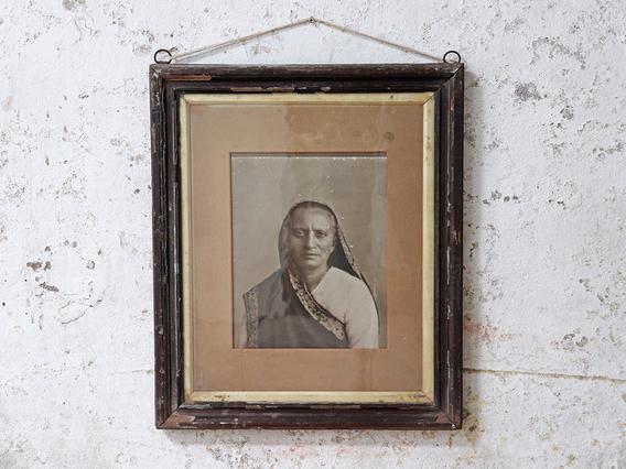 Vintage Indian Woman Portrait Brown