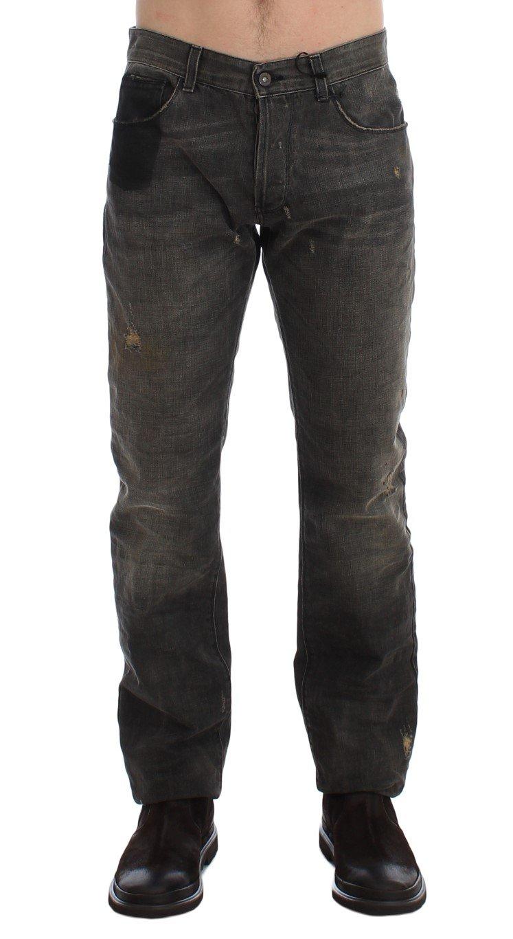 Costume National Men's Wash Regular Cotton Denim Jeans Gray SIG17954 - W34