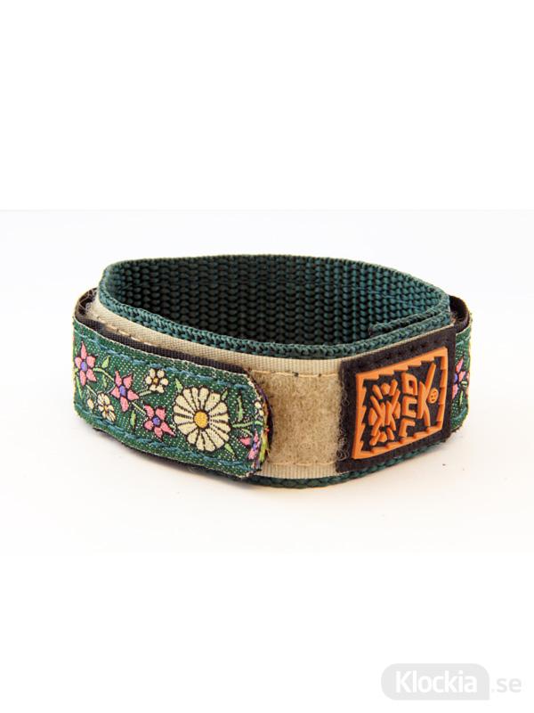GUL Armband Velcro Std Flowers Green 18mm - 20mm 439541