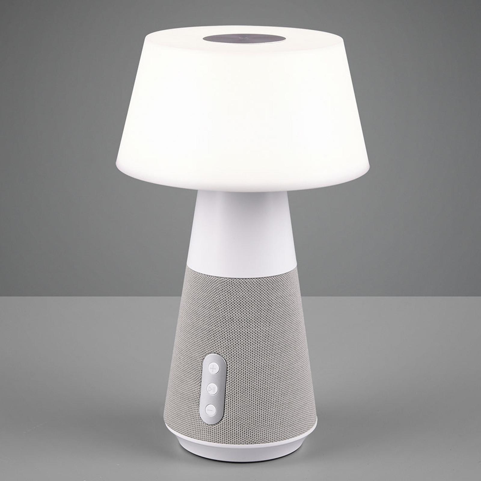 LED-pöytävalaisin DJ kaiuttimella valkoinen/harmaa