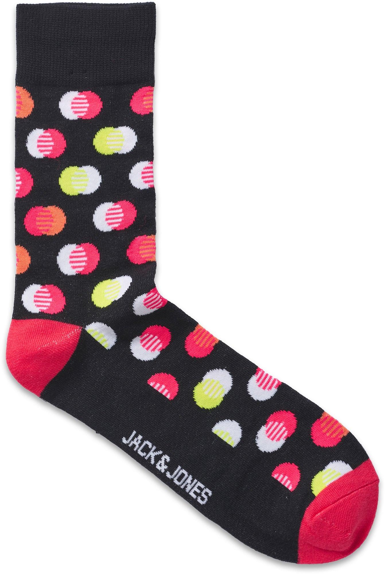 Jack & Jones Finn Socka 4-Pack, Black Junior