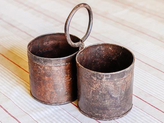 Metal Plant Pot - Double