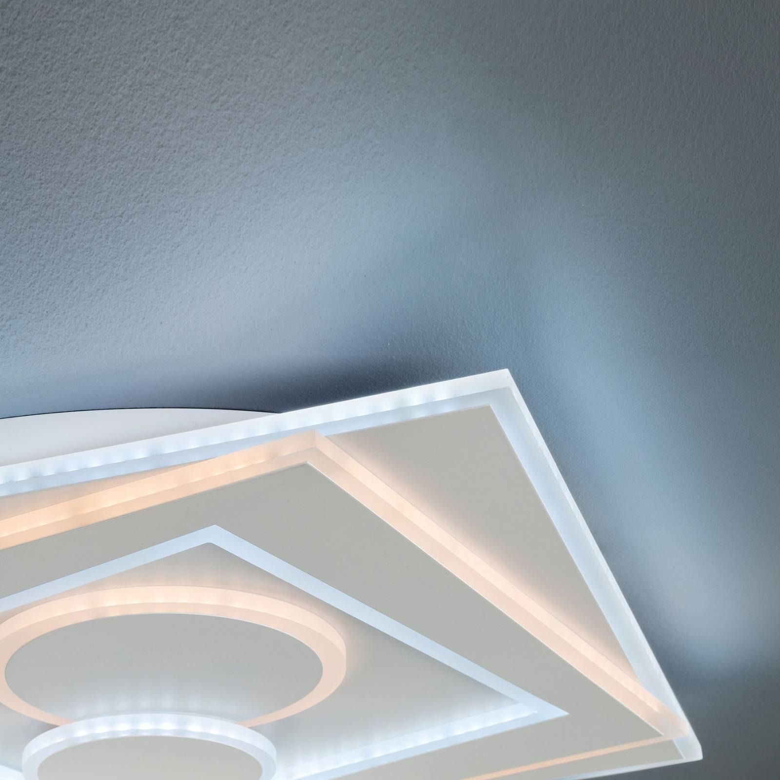 LED-taklampe Ratio, dimbar, to sirkler
