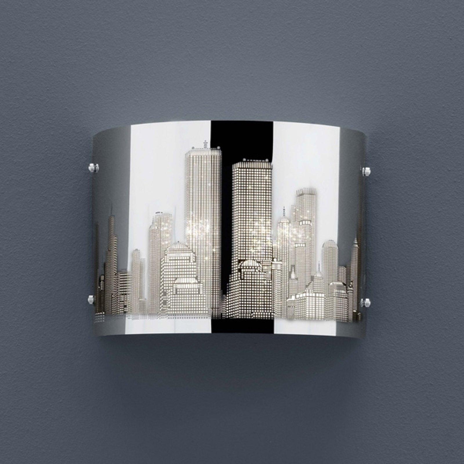 Laserskåret vegglampe Skyline