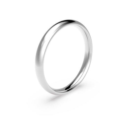 Förlovningsring i platina 3mm, 53