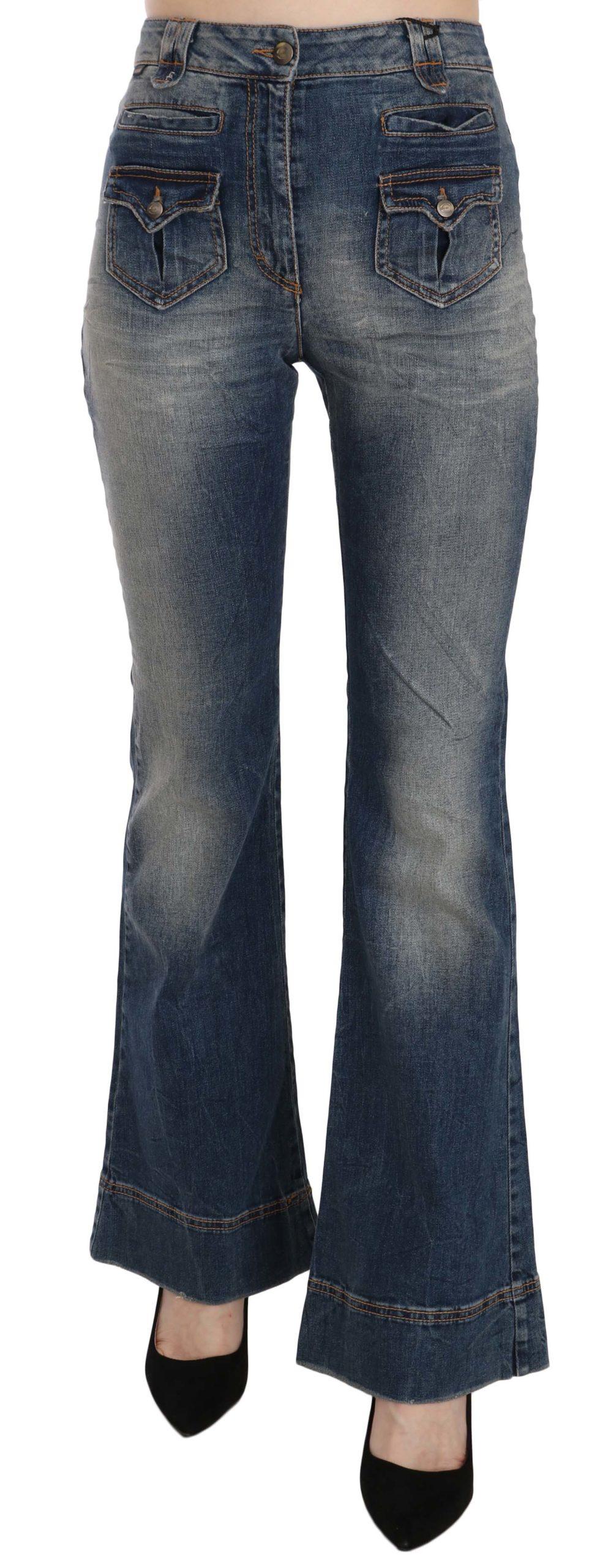 Just Cavalli Women's High Waist Flared Denim Trouser Blue PAN70333 - W26