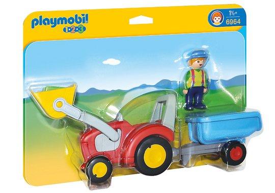 Playmobil 6964 Bonde med Traktor och Slep