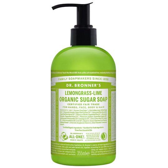 Organic Hand & Body Shikakai Soap Lemongrass Lime, 355 ml Dr. Bronner's Luonnonkosmetiikka
