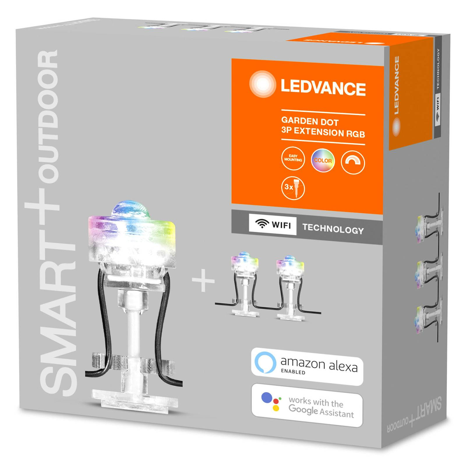 LEDVANCE SMART+ WiFi Garden Dot -spotti, 3 kpl