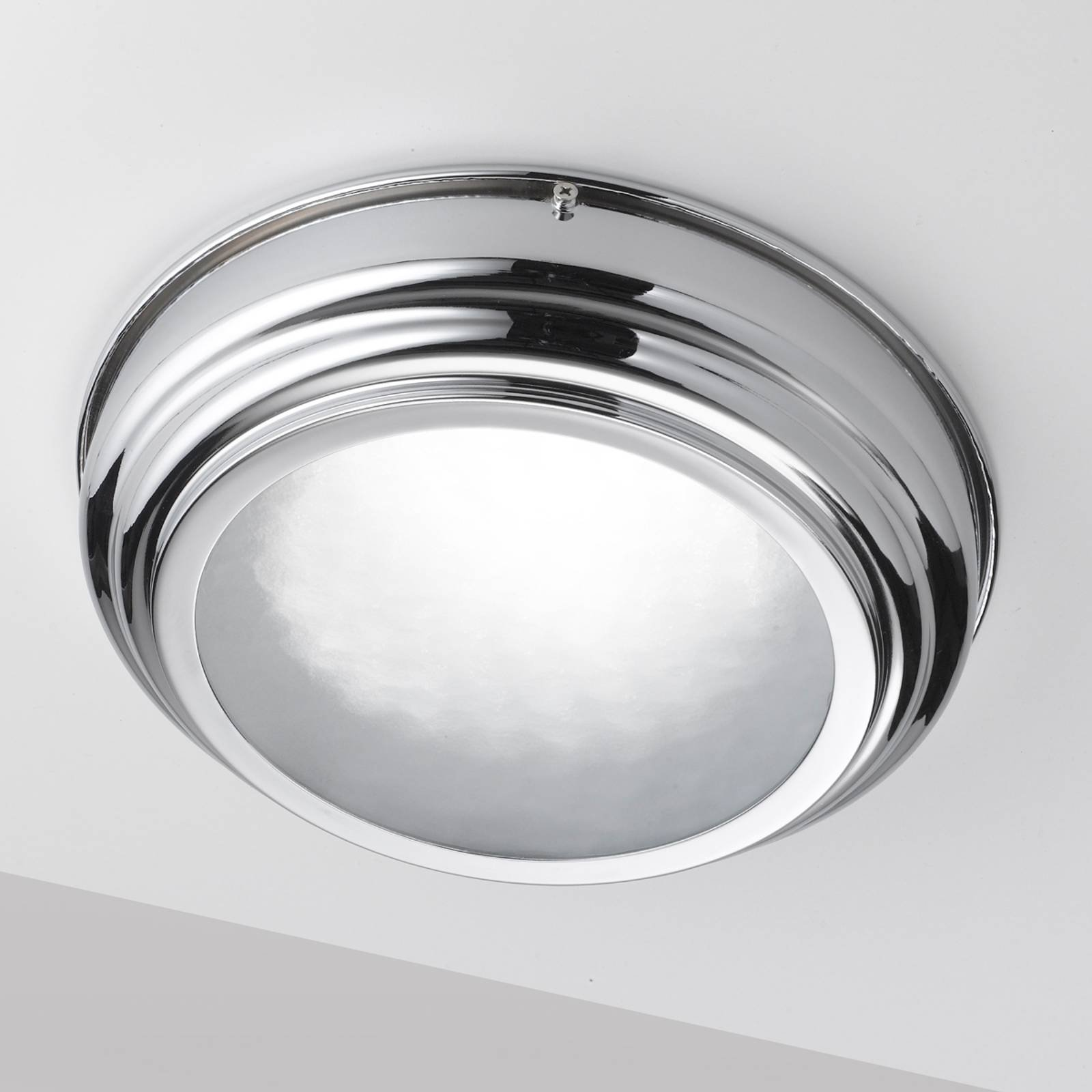 LED-taklampe med Scirocco 30 cm, krom blank
