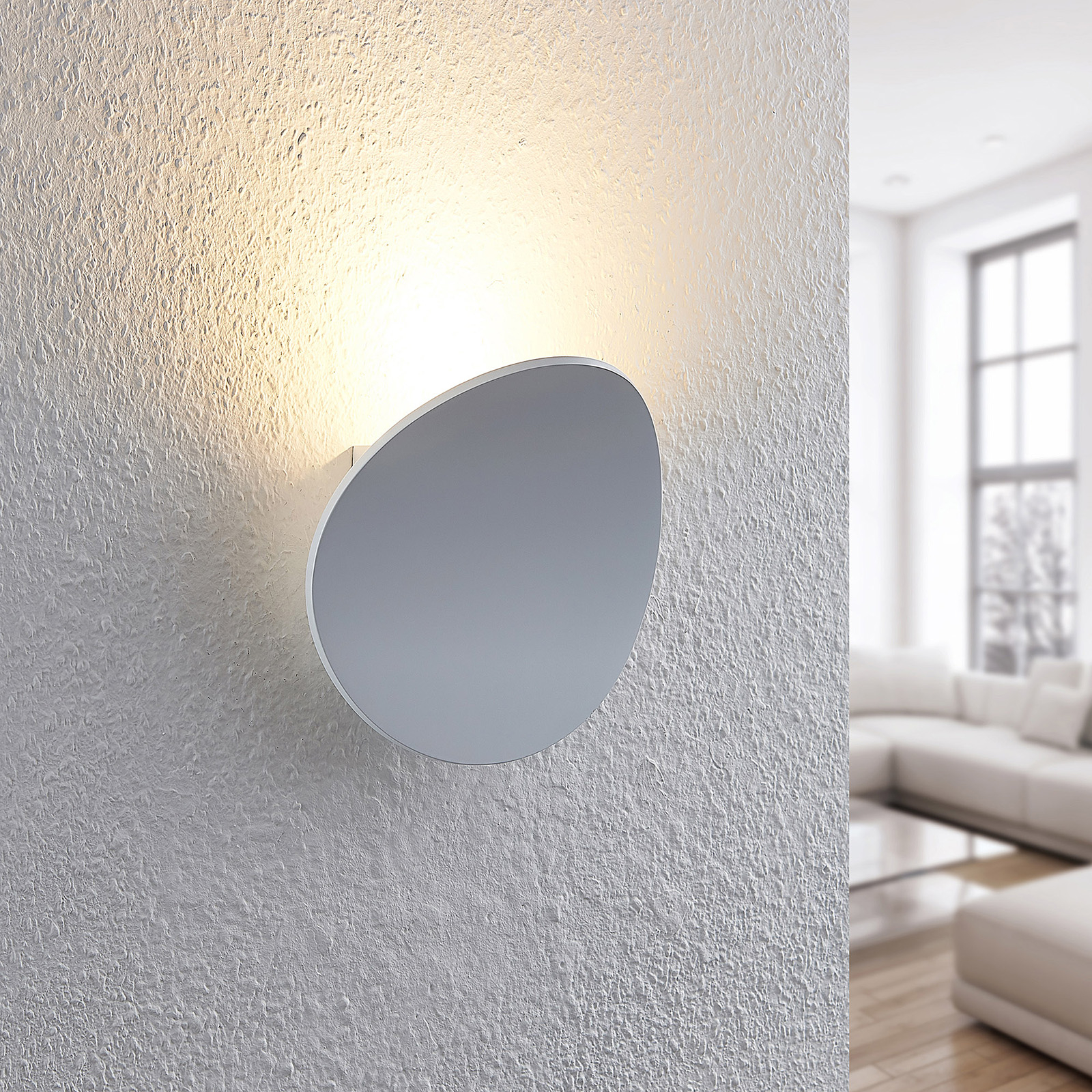 Arcchio Gemmara -LED-seinävalaisin, alumiini