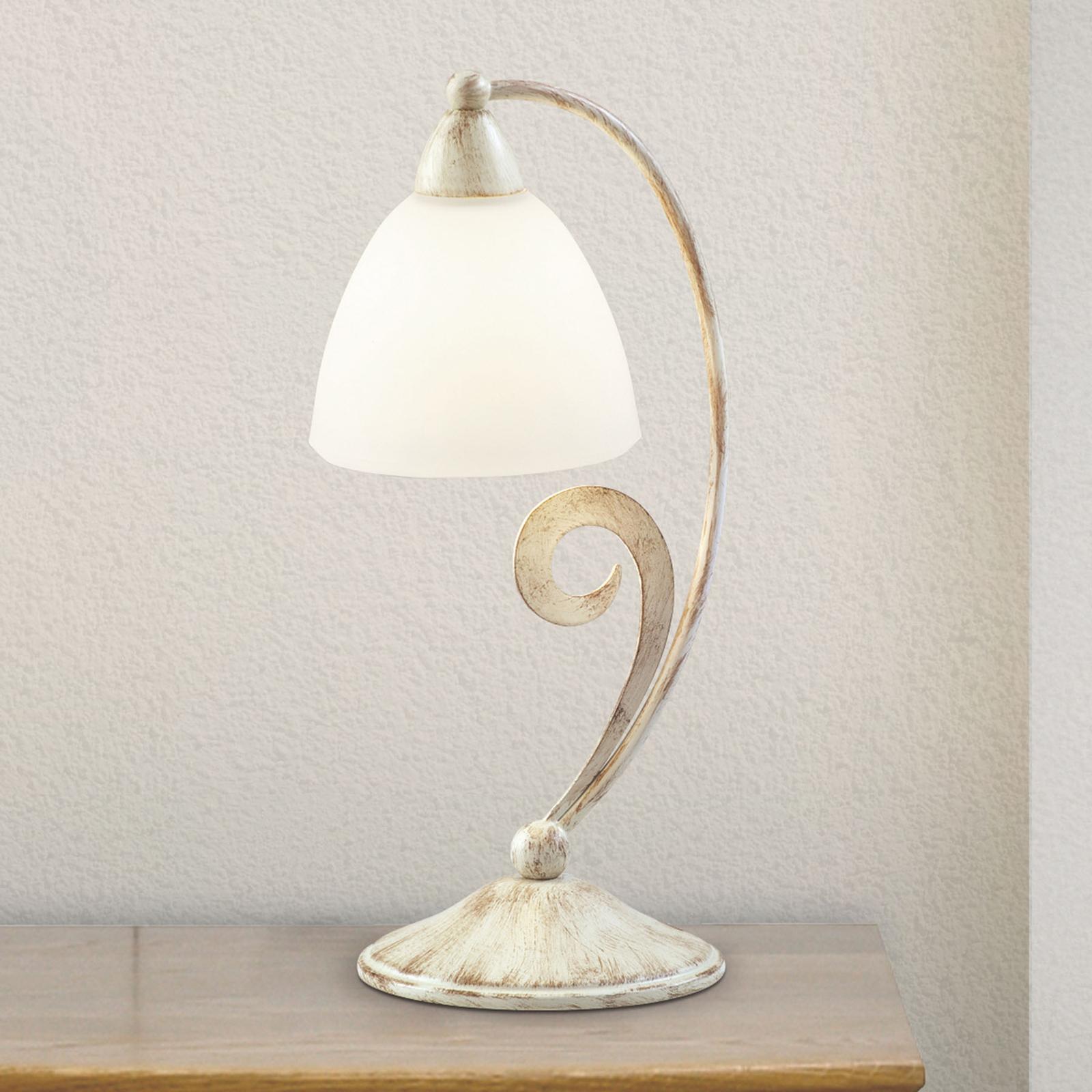 Pöytälamppu 1730/1L satinoitu valkoinen norsunluu