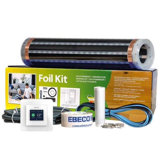 Ebeco Foil Kit 500 Lattialämmityssarja puulle ja laminaatille 10 m²