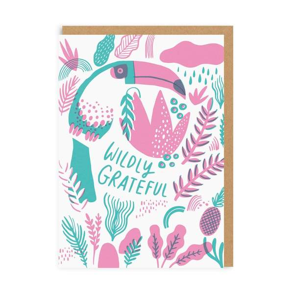 Wildly Grateful Thank you Greeting Card