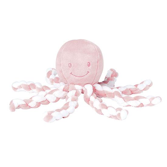 Nattou - Cuddly Squid - Rose/White