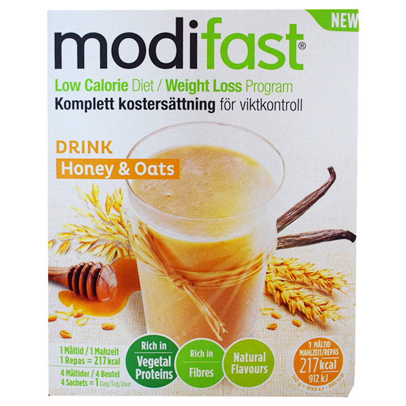 """Kostersättning """"Drink Honey & Oats"""" 220g - 58% rabatt"""