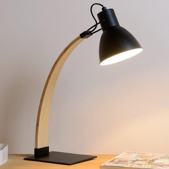 Elegant bordlampe Curf, svart