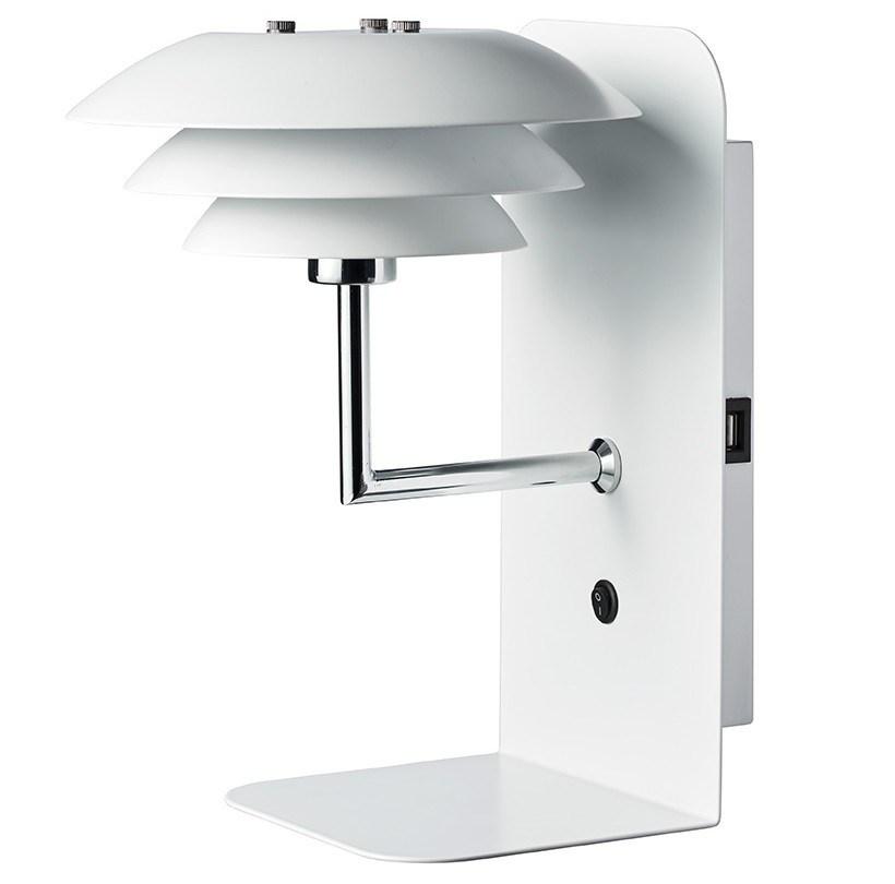 Dyberg Larsen - DL20 USB Shelf With Lamp - White