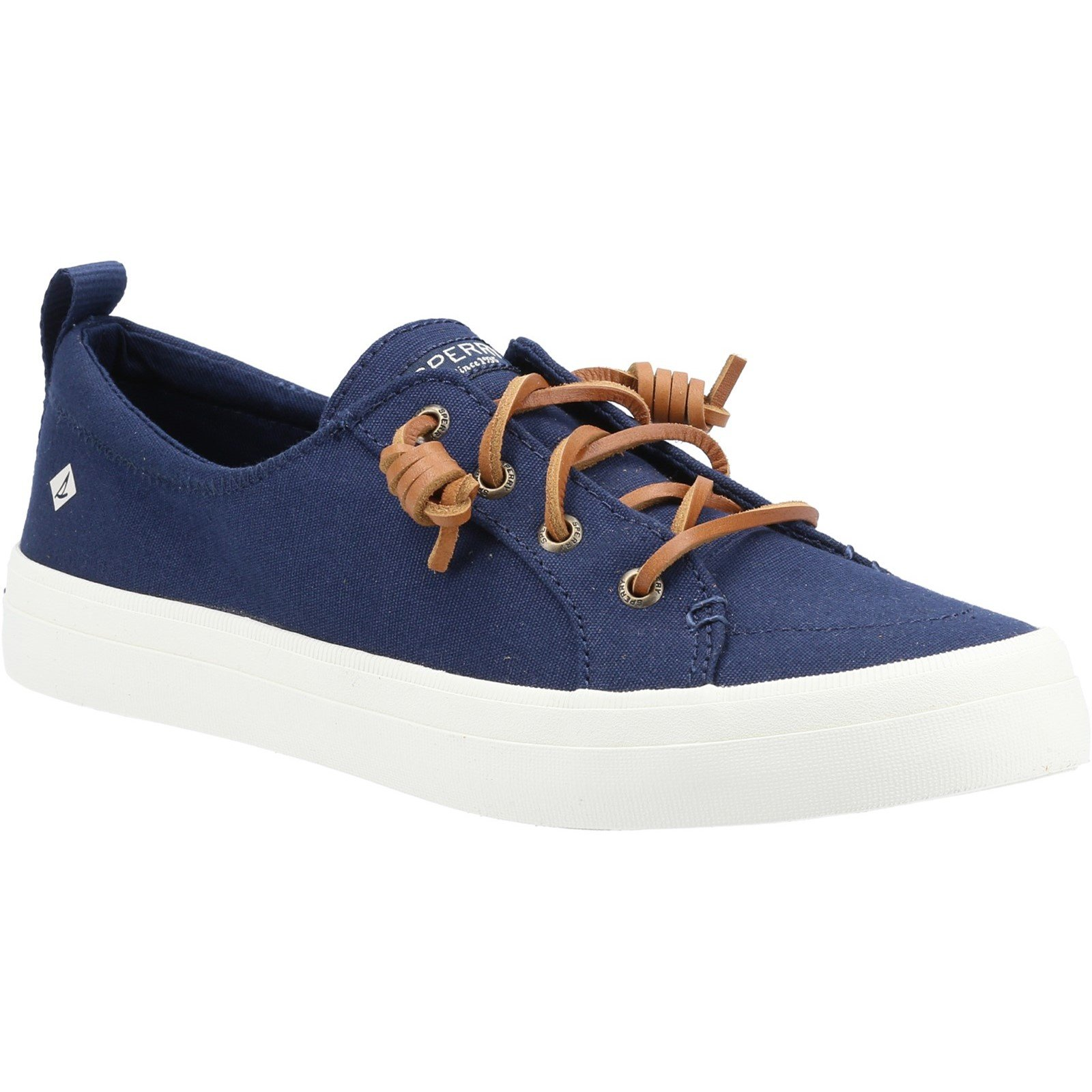Sperry Women's Crest Vibe Canvas Lace Trainers Various Colours 32937 - Navy 5