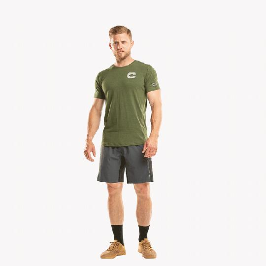 CLN Logg Bamboo T-shirt, Forrest Green
