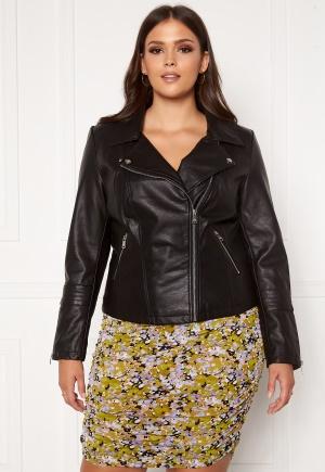 Only Carmakoma Emmy Faux Leather Biker Black 54