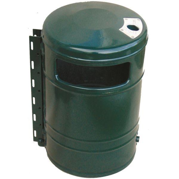 Jansson & Partner OTTO Papirkurv med askebeger, 40 l, grønn