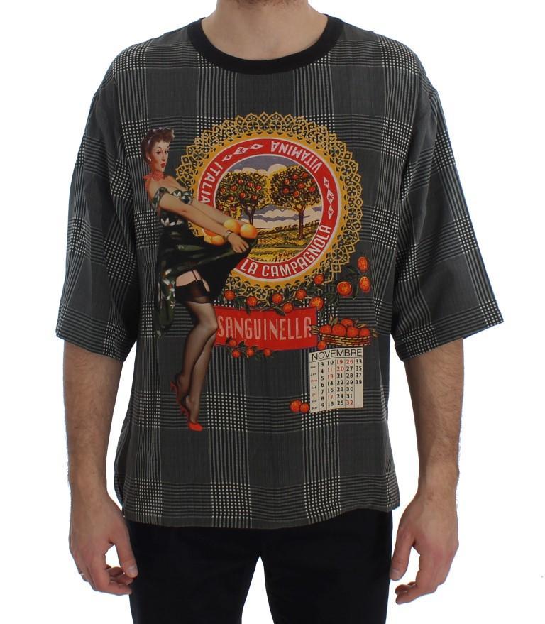 Dolce & Gabbana Men's Crewneck ITALIA T-Shirt Multicolor SIG20157 - IT48   M