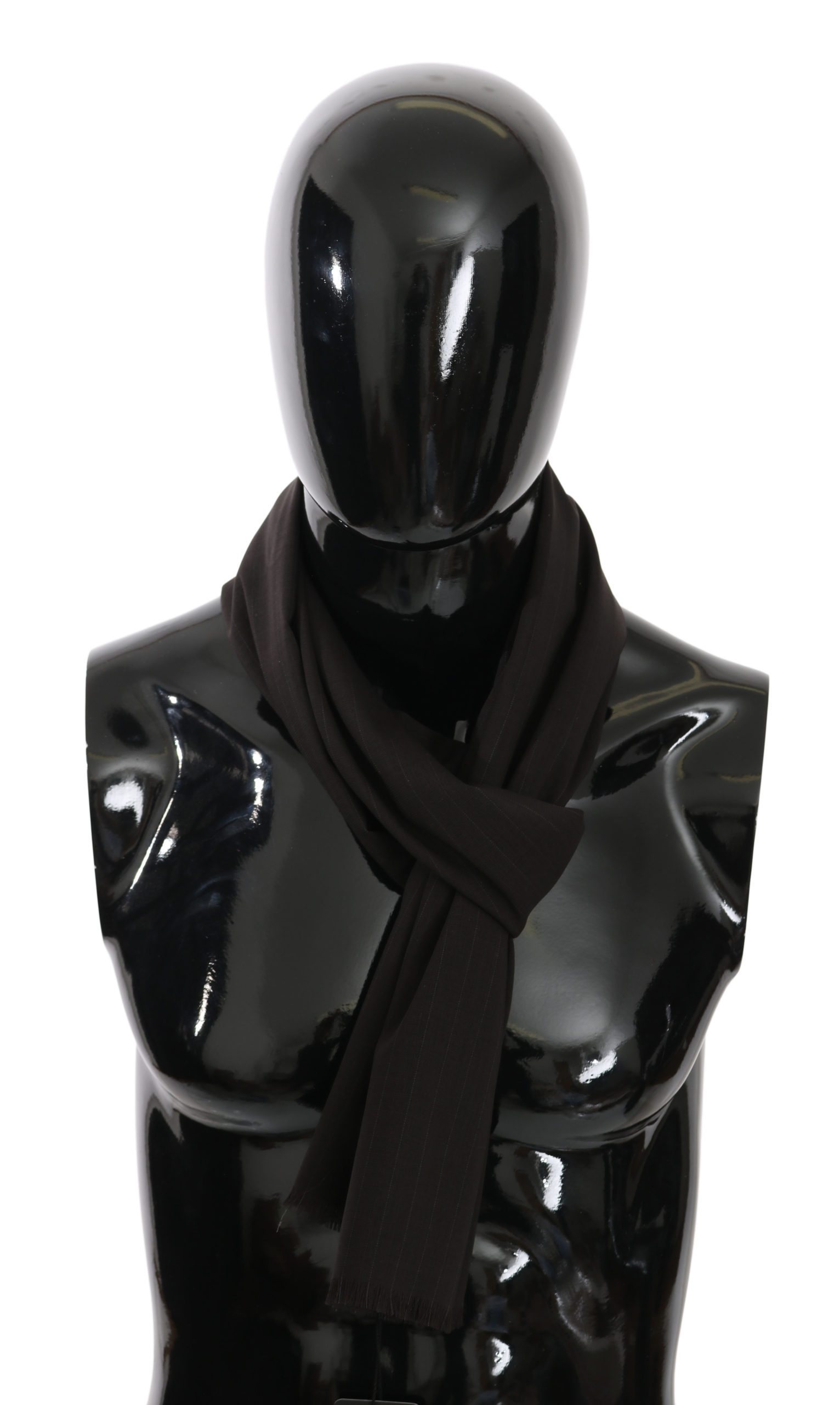 Dolce & Gabbana Men's Striped Silk Scarf Gray MS5027