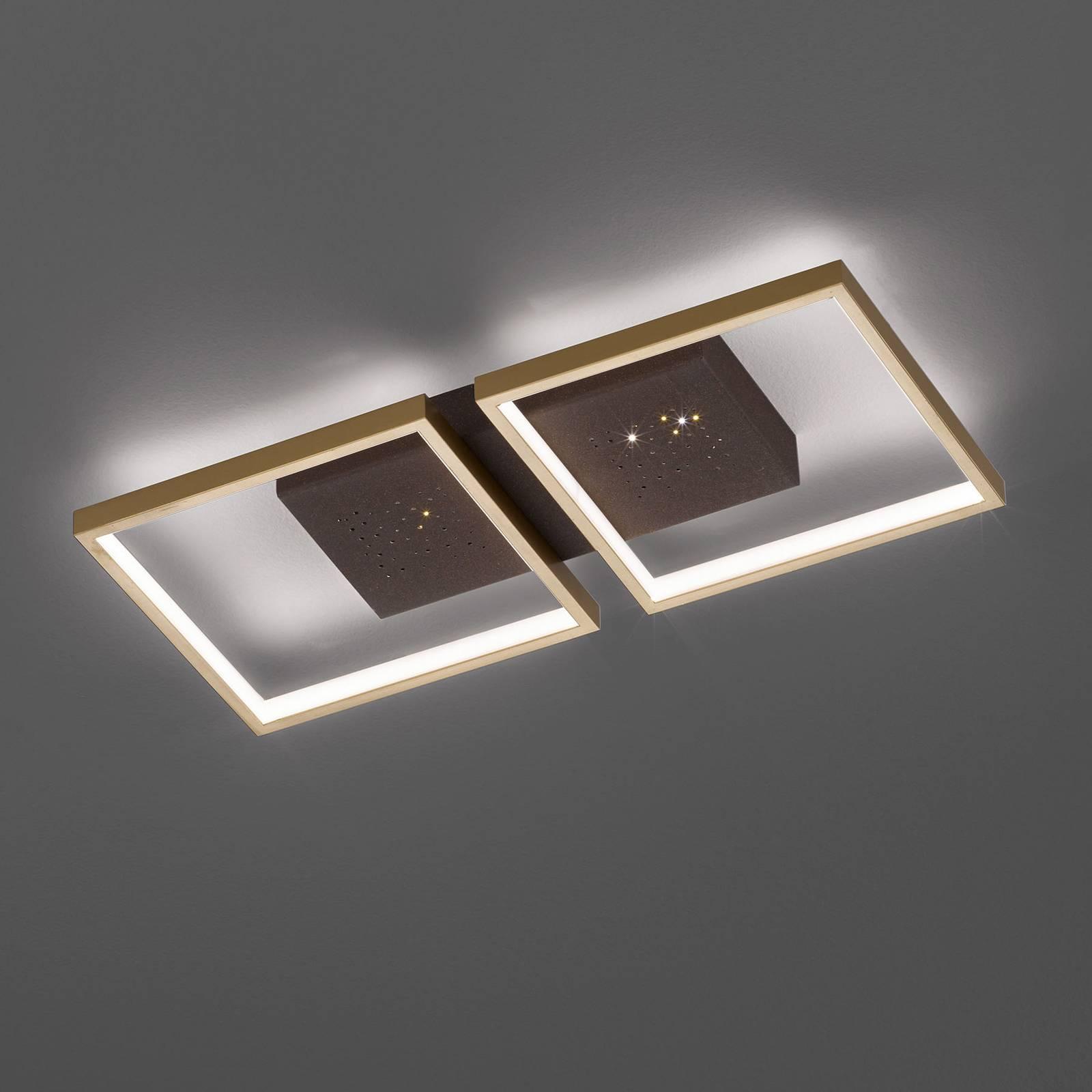 LED-kattovalaisin Pix, 2-lamppuinen 54 x 25 cm