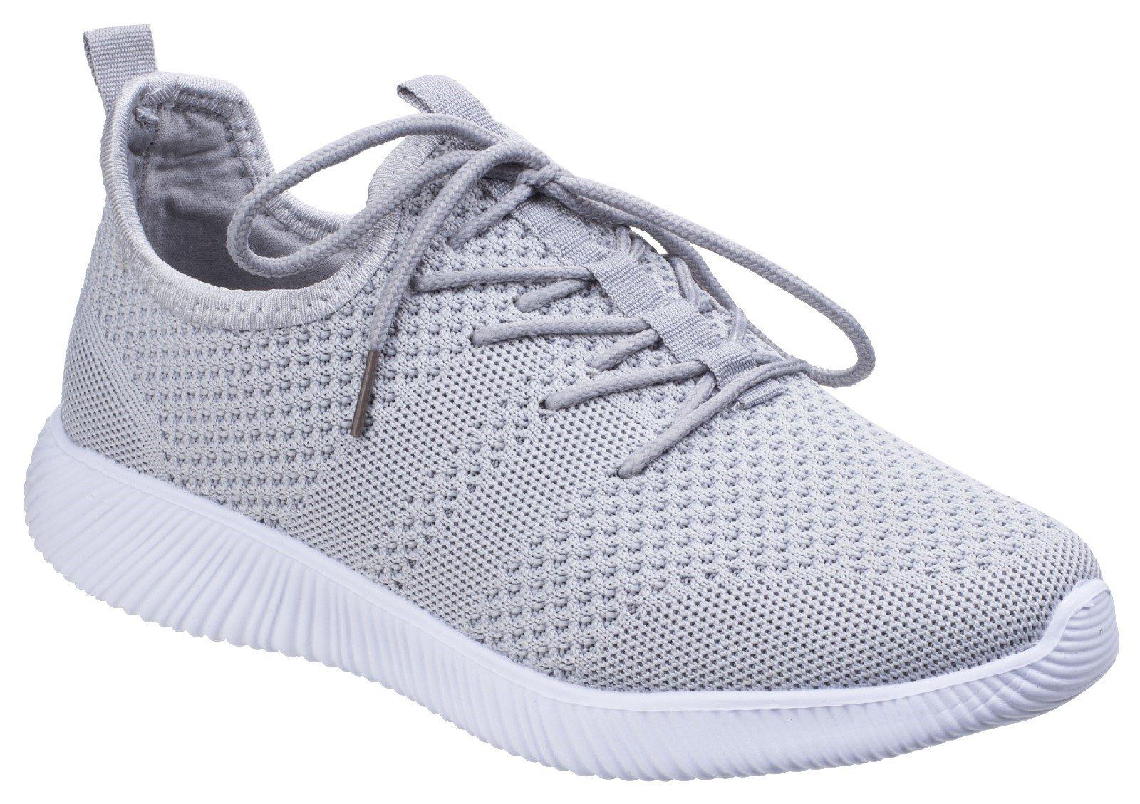 Divaz Women's Heidi Knit Trainer Grey 26327-43957 - Grey 3