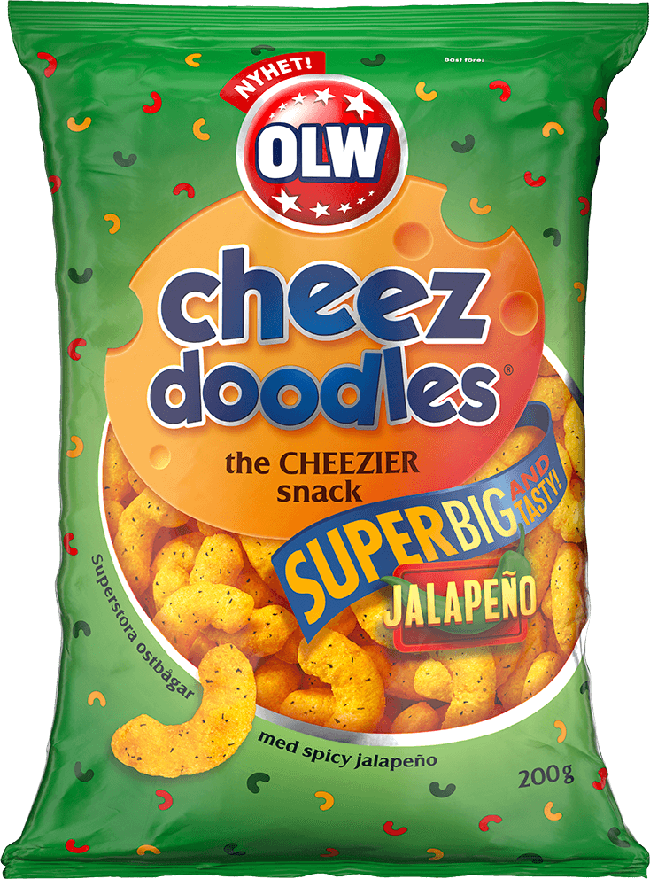 OLW Cheez Doodles Superbig Jalapeño 200g