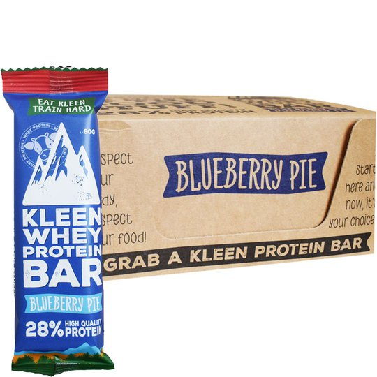 "Hel Låda Proteinbars ""Blueberry Pie"" 16 x 60g - 38% rabatt"