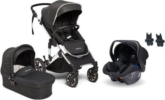 Beemoo Maxi 4 Duovogn Inkl. Axkid Modukid Infant Babybilstol, Black/Silver
