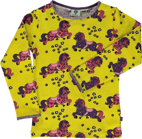 Småfolk Hest Genser, Yellow, 2-3 År