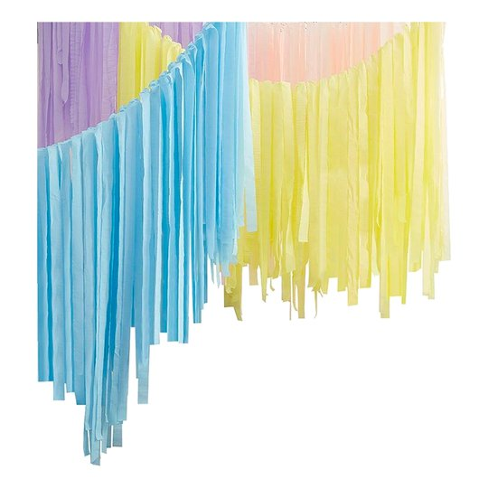 Backdrop Streamers Pastell Kit