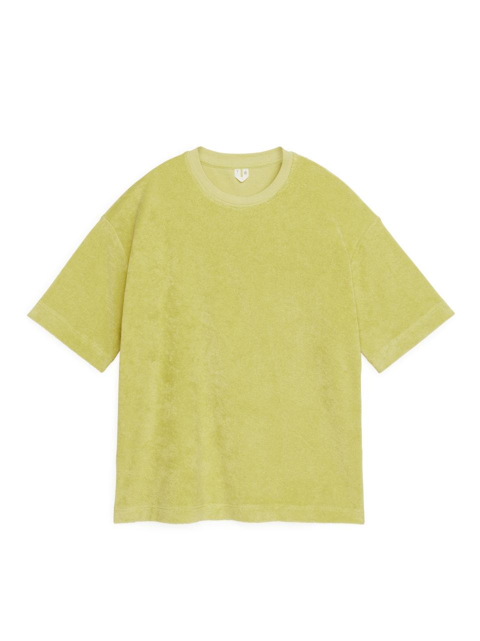 Oversized Towelling T-Shirt - Yellow