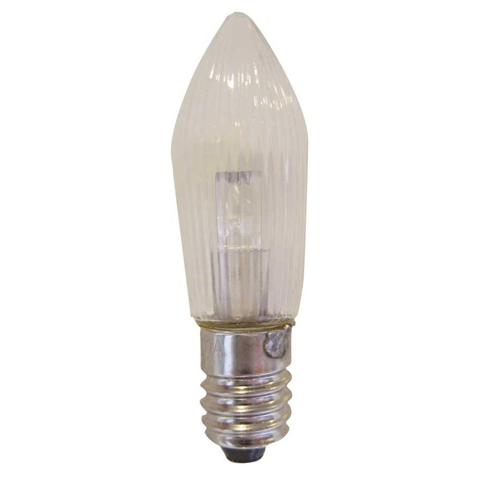 E10 0,1W 10-55V LED-reservepære 3-pakning lys