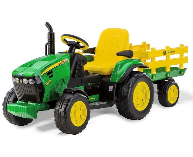 PegPérego John Deere Ground Traktor, Grön