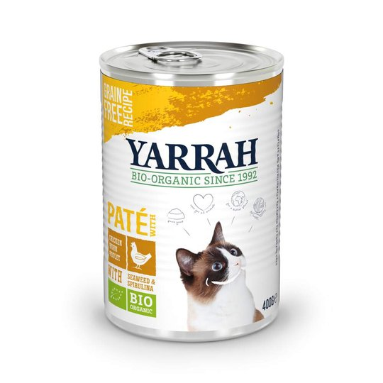 Yarrah Organic Cat Chicken Paté 400 g
