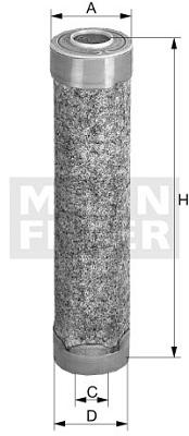 Toisioilmasuodatin MANN-FILTER CF 16 001