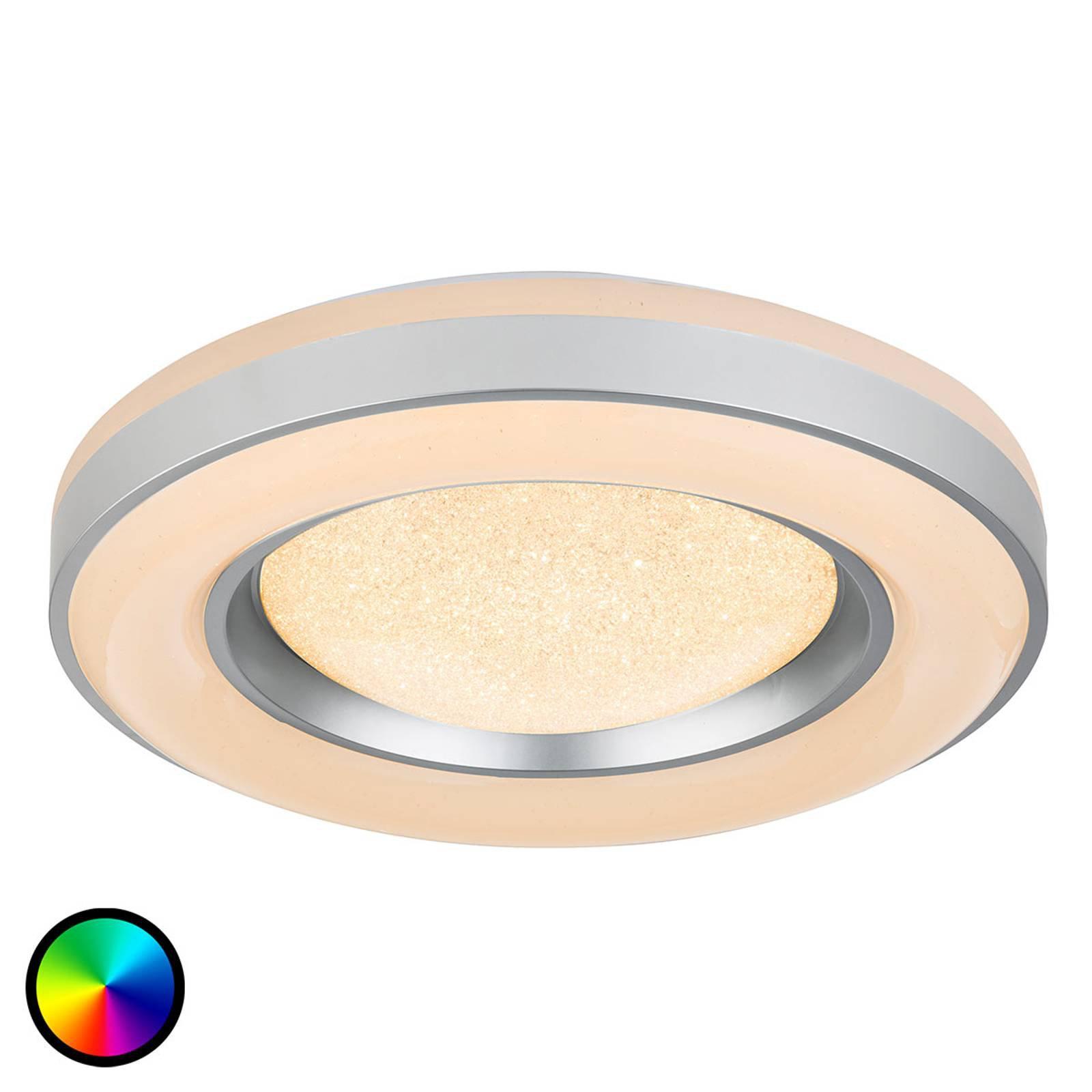LED-taklampe Colla med fjernkontroll