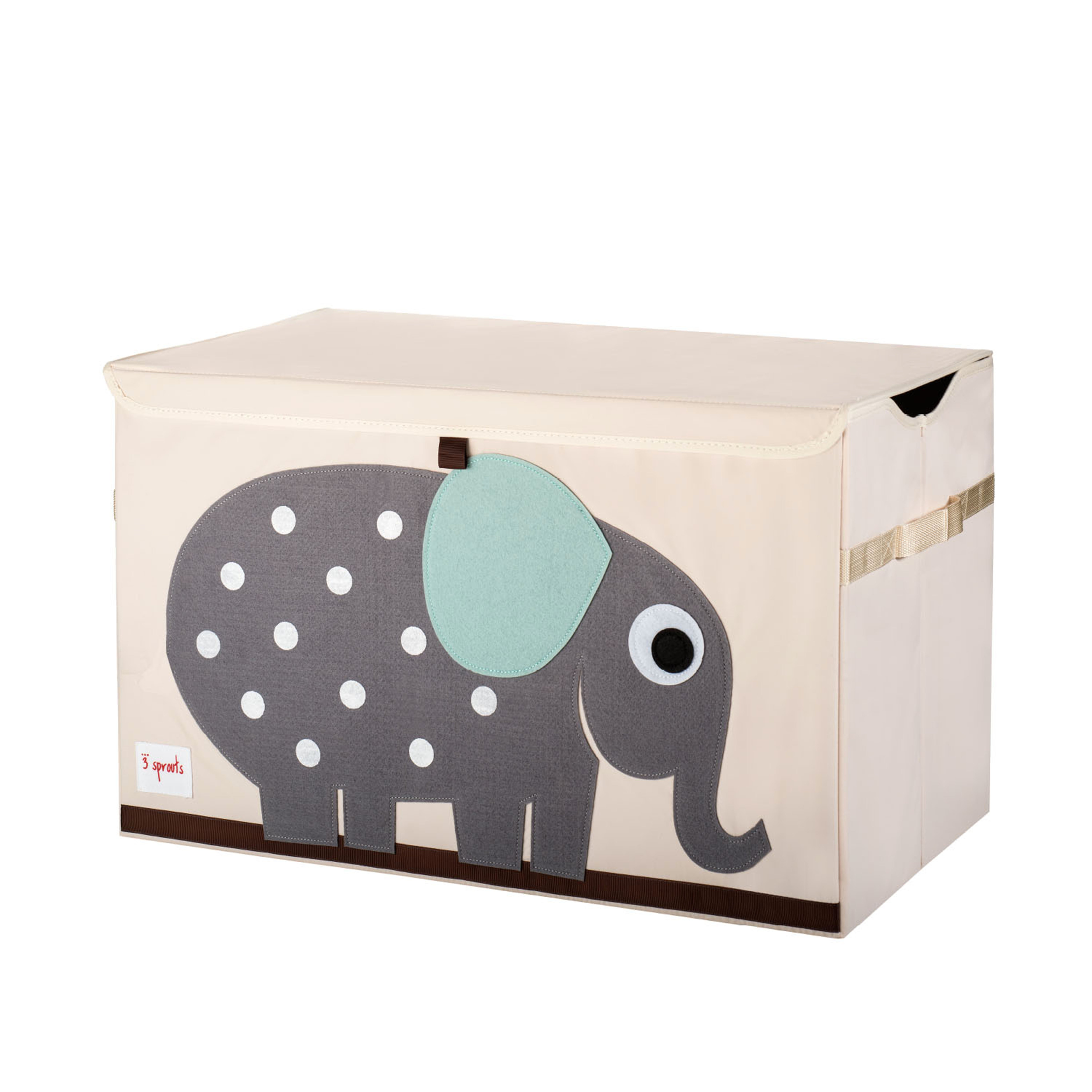 3 Sprouts - Toy Chest - Gray Elephant