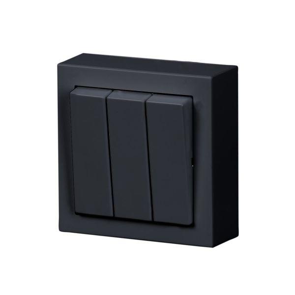 ABB Impressivo Strømstiller 3x1-pol, utenpåliggende Antrasitt