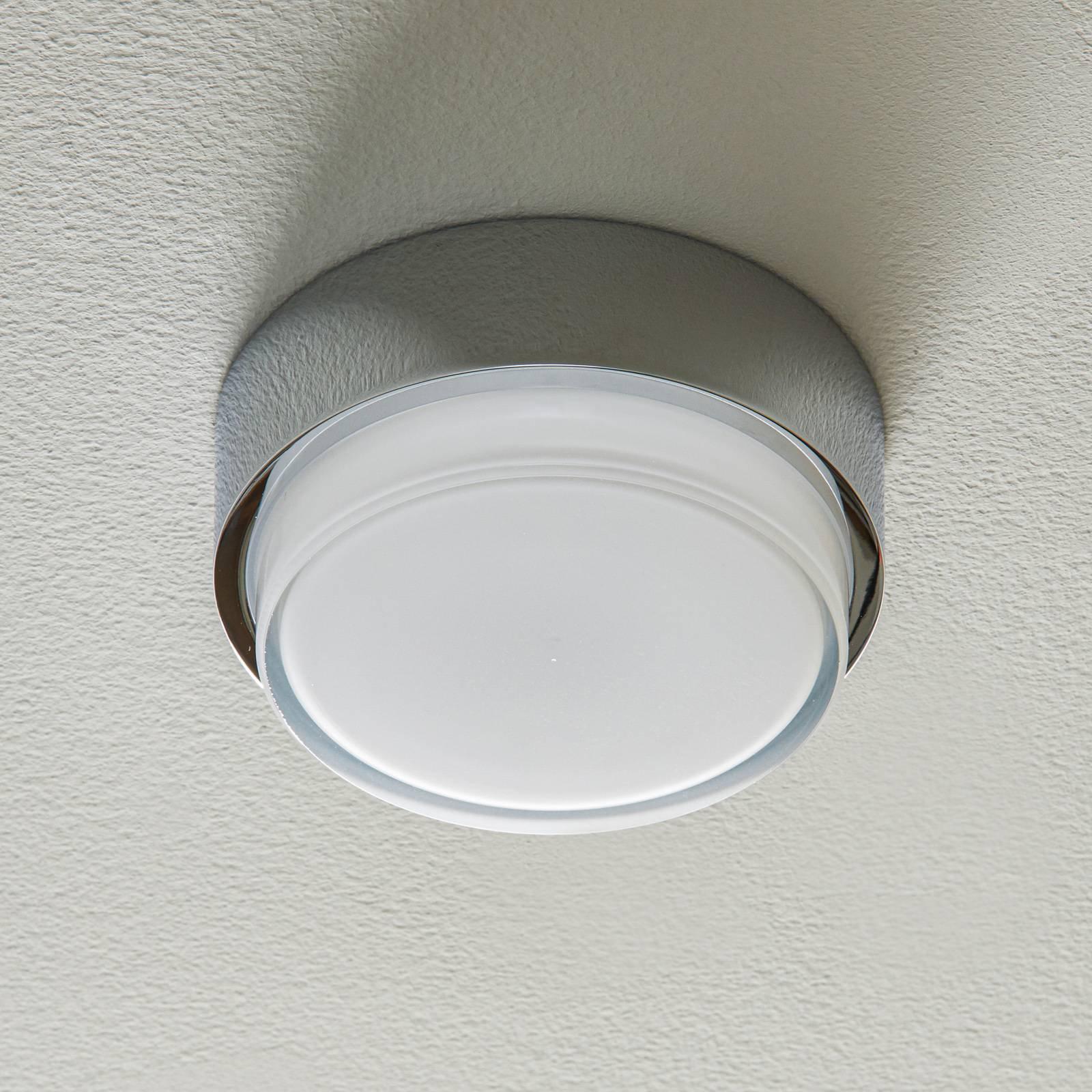 BEGA 50535 LED-taklampe 930 krom Ø15,5cm