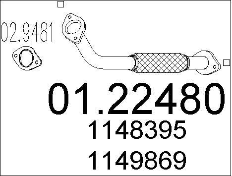Pakoputki MTS 01.22480