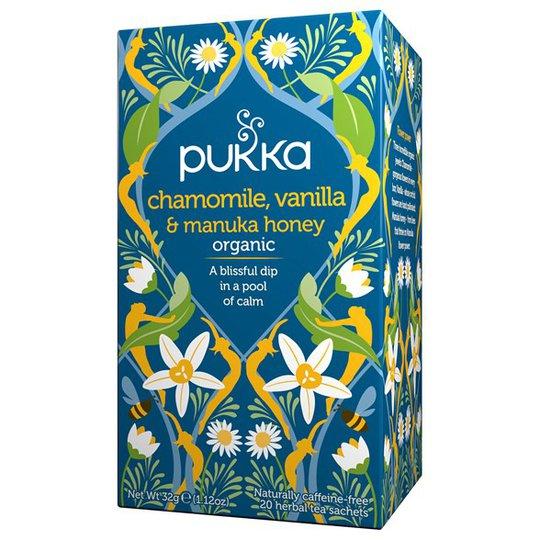 Pukka Herbs Örtte Chamomile, Vanilla & Manuka Honey, 20 påsar