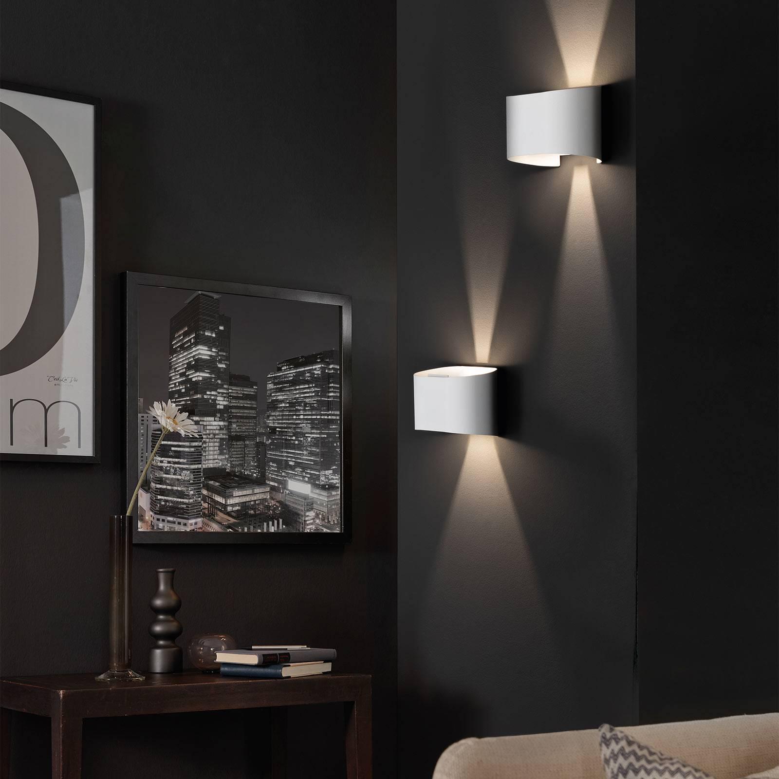 LED-seinävalaisin Wall, 2-lamppuinen, pyöreä