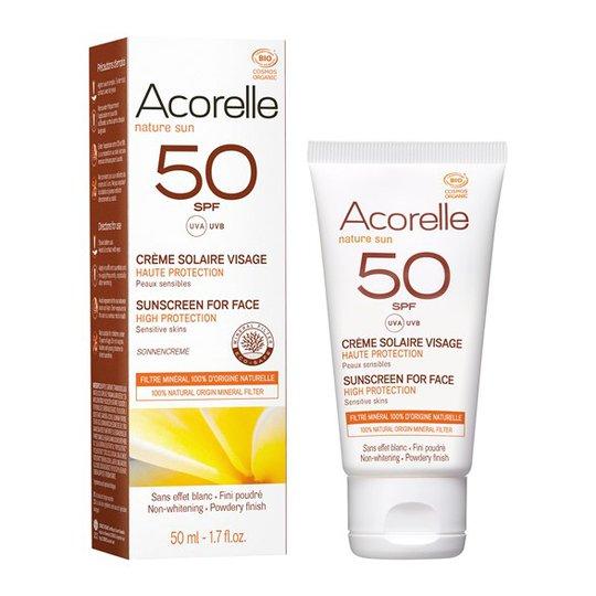 Acorelle Solskyddskräm för ansikte SPF 50, 50 ml