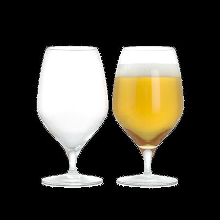 Premium Ölglas 60 cl klar 2 st.