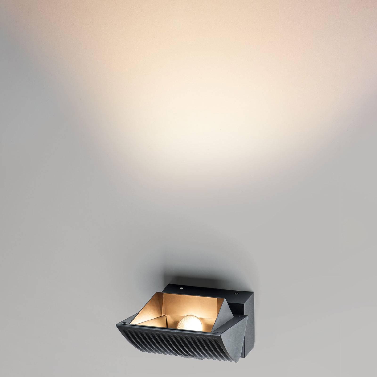 SLV Merado Flood LED-vegglampe, 3 000 K, svart